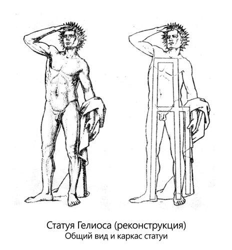 Реконструкция Колосса Родосского, внешний вид и каркас