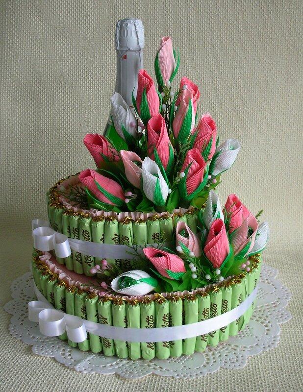 Торт из конфет своими