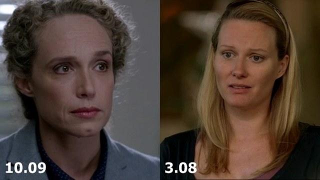 Актеры и персонажи эпизода 10.09 The Things We Left Behind