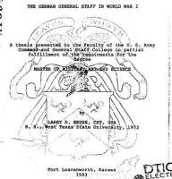 Журнал The German General Staff in World War I