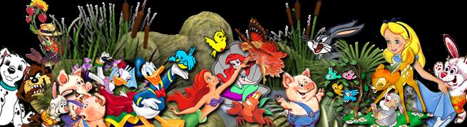 Герои мультфильмов на прозрачном фоне, PNG, с применением стиля Тень