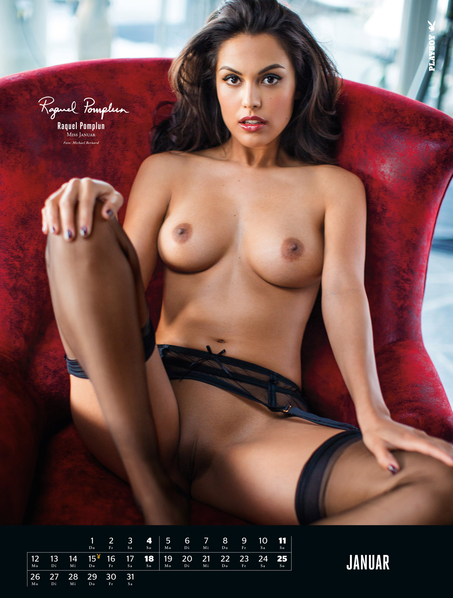 эротический календарь Playboy Germany Playmate Calendar 2015 - Miss January 2014 Raquel Pomplun