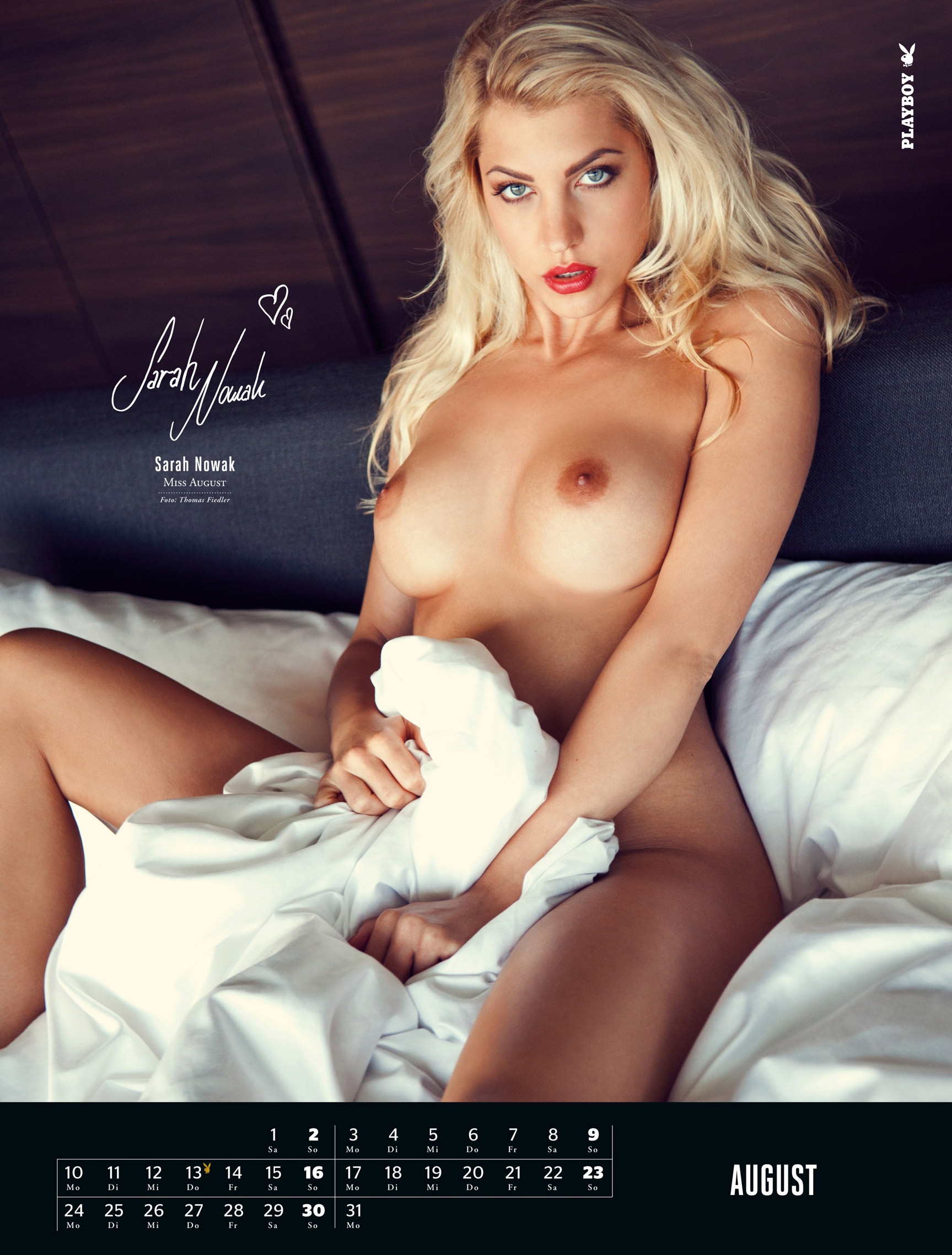 ����������� ��������� Playboy Germany Playmate Calendar 2015 - Miss August 2014 Sarah Nowak