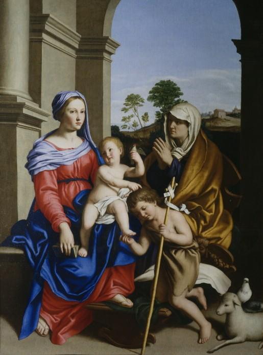 Джованни Батиста Сальви, Мадонна с Младенцем, Иоанном Крестителем и Св. Елизаветой