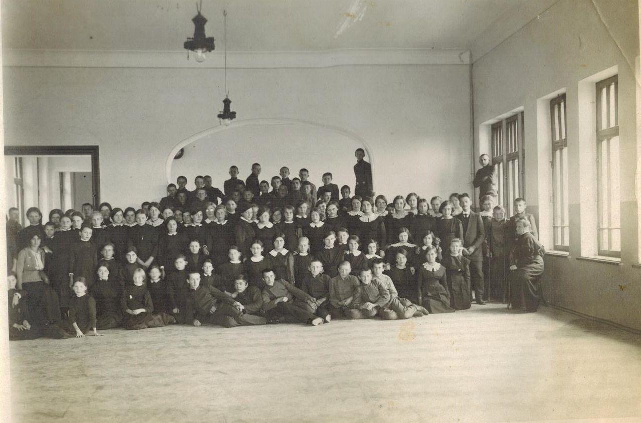 Смешанная гимназия. 1914