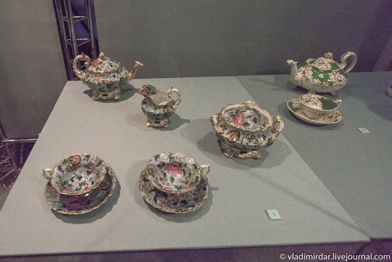 Сервиз чайный с печатным декором, выполненный по английским образцам. Россия.