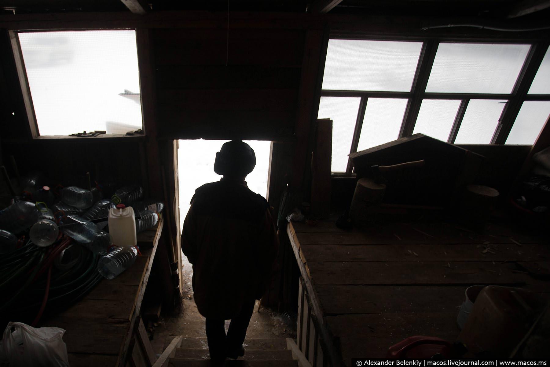 Русская деревня для американской туристки