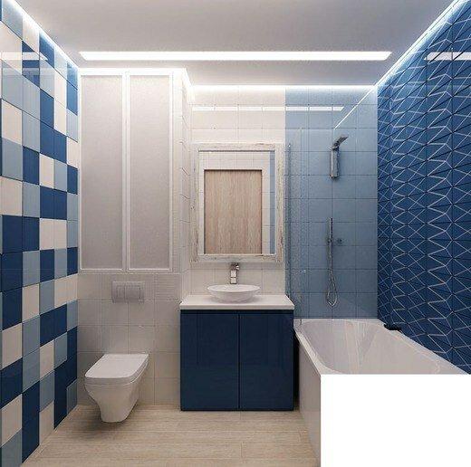 Идея ремонта и дизайна ванной комнаты.