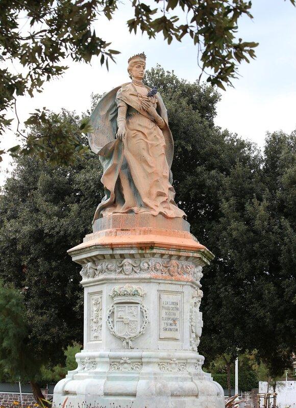 Доностия-Сан-Себастьян. Сад Ондаретта. Памятник Марии Кристине