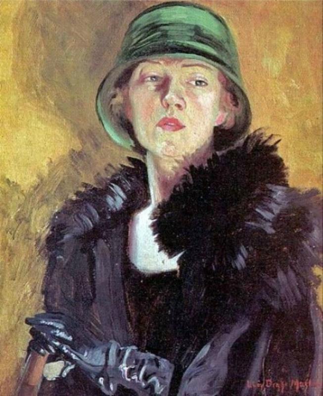 Lucy Drake Marlow (American artist, 1890–1978) Green Hat.jpg