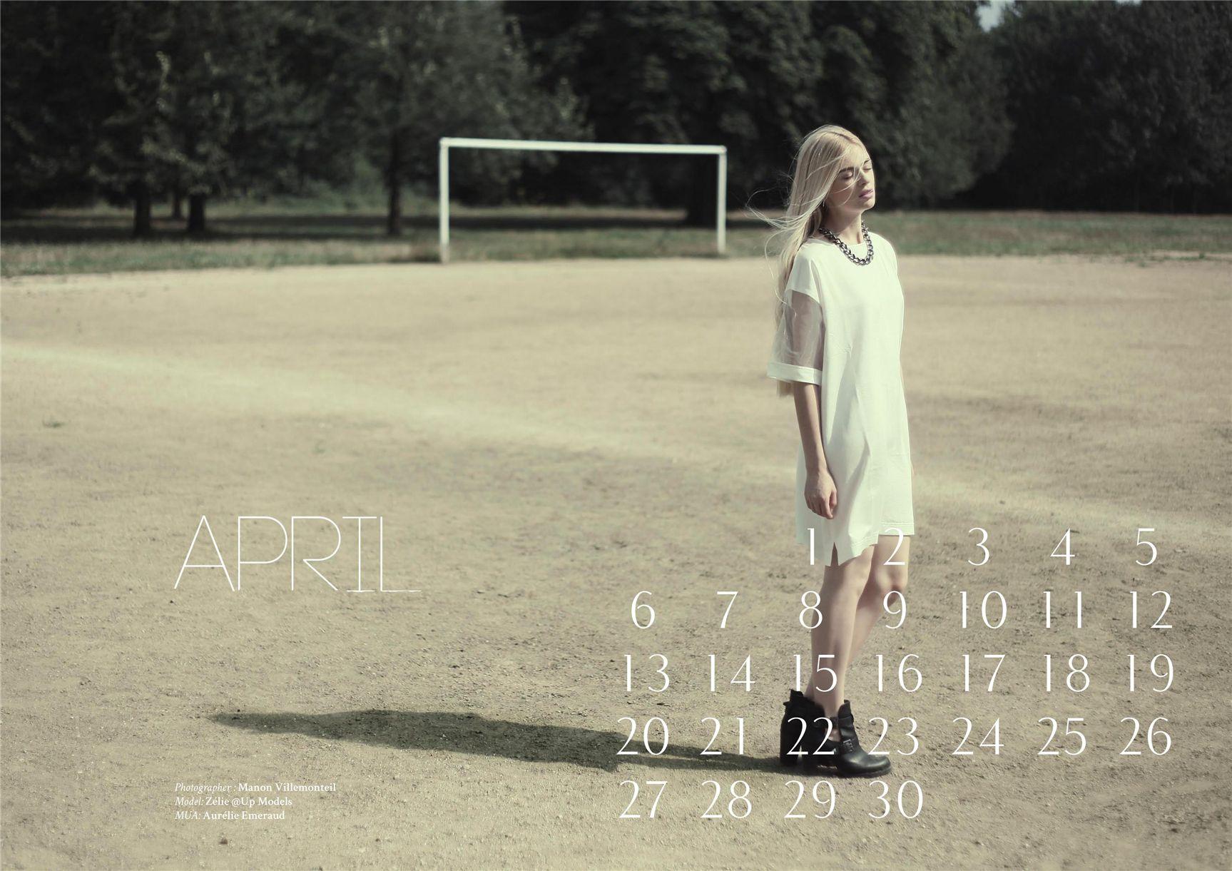 модно-артистический календарь журнала Bizart 2015 calendar - Zelie by Manon Villemonteil