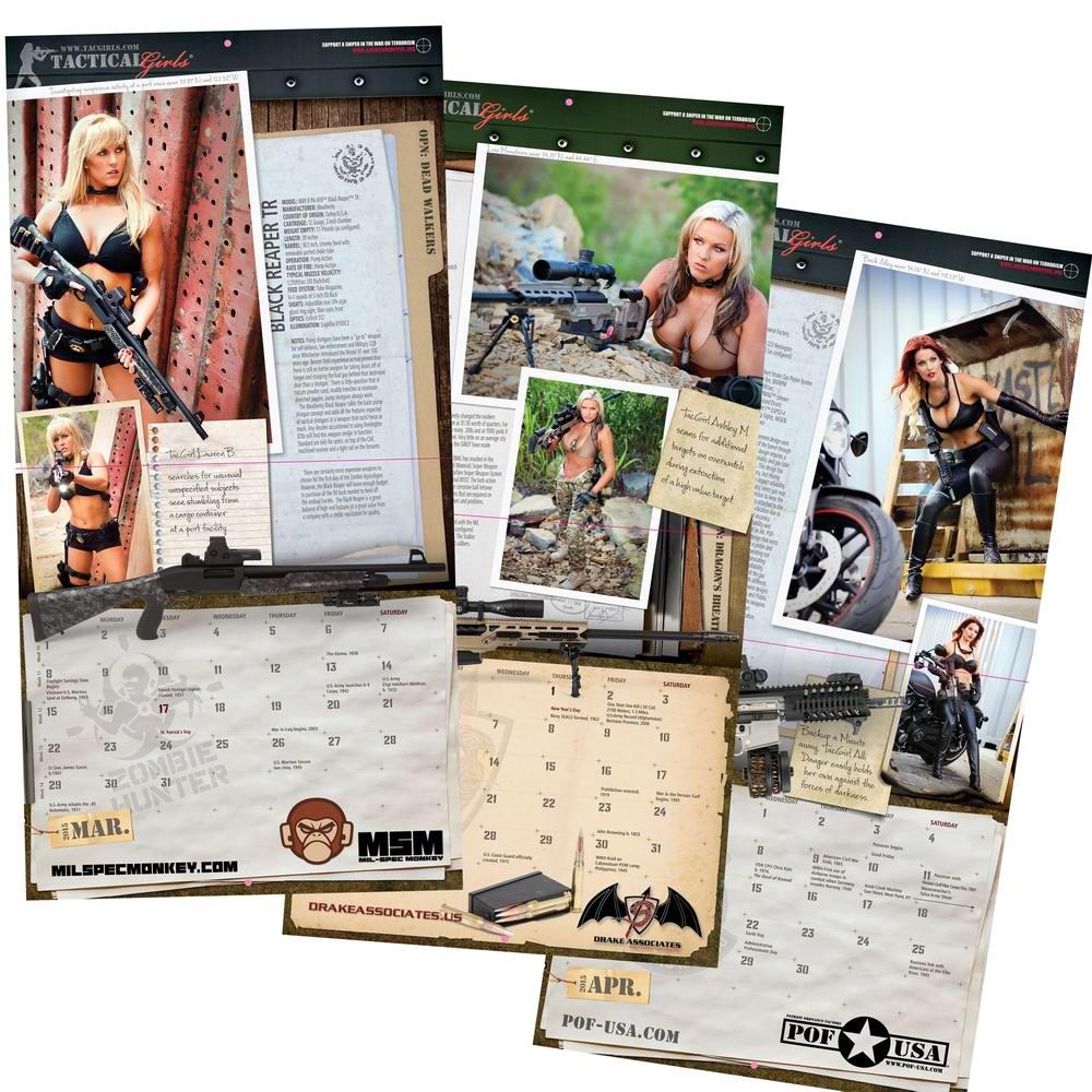 Стрелковый календарь Tactical Girls (22)