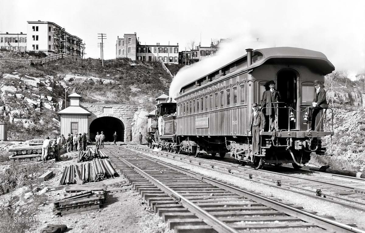 Железные дороги конца 19-го - начала 20-го века на снимках американских фотографов (23)