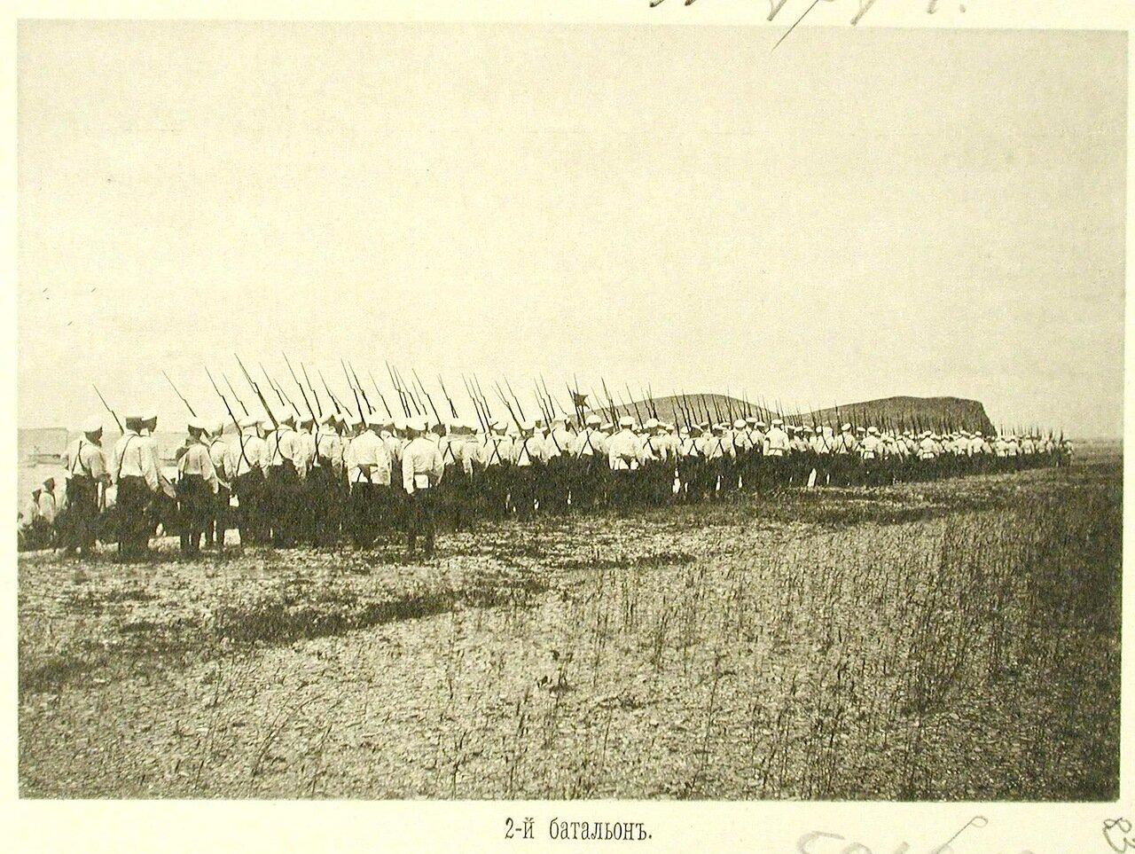 83. Матросы 2-го батальона эскадренного десанта в строю