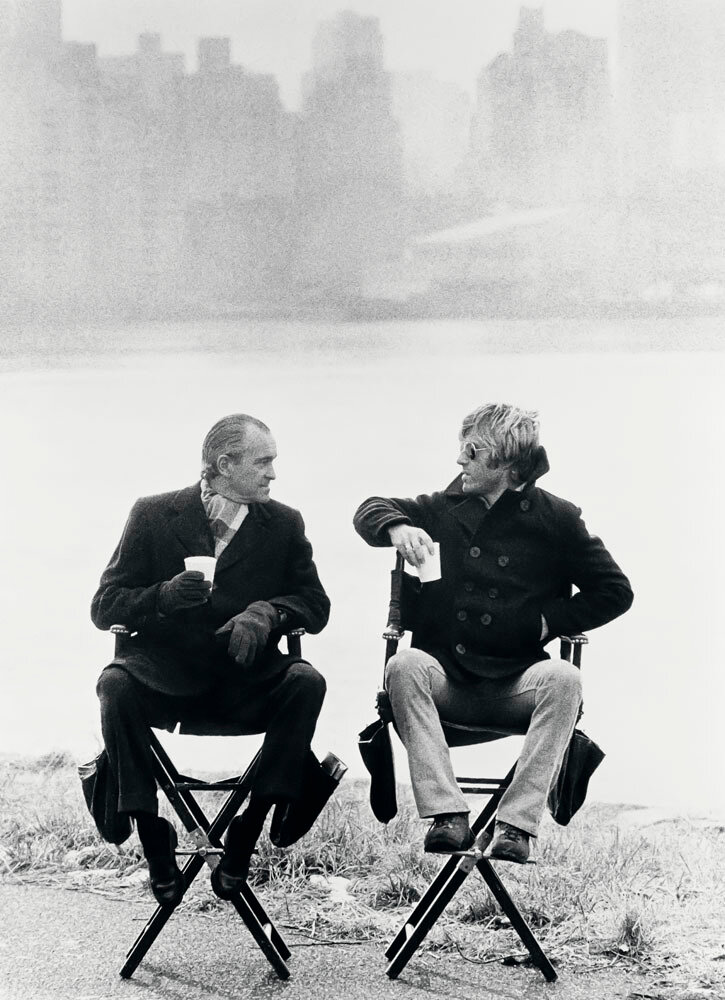 1975. Роберт Редфорд и Ричард Хелмс, глава ЦРУ, Нью-Йорк,