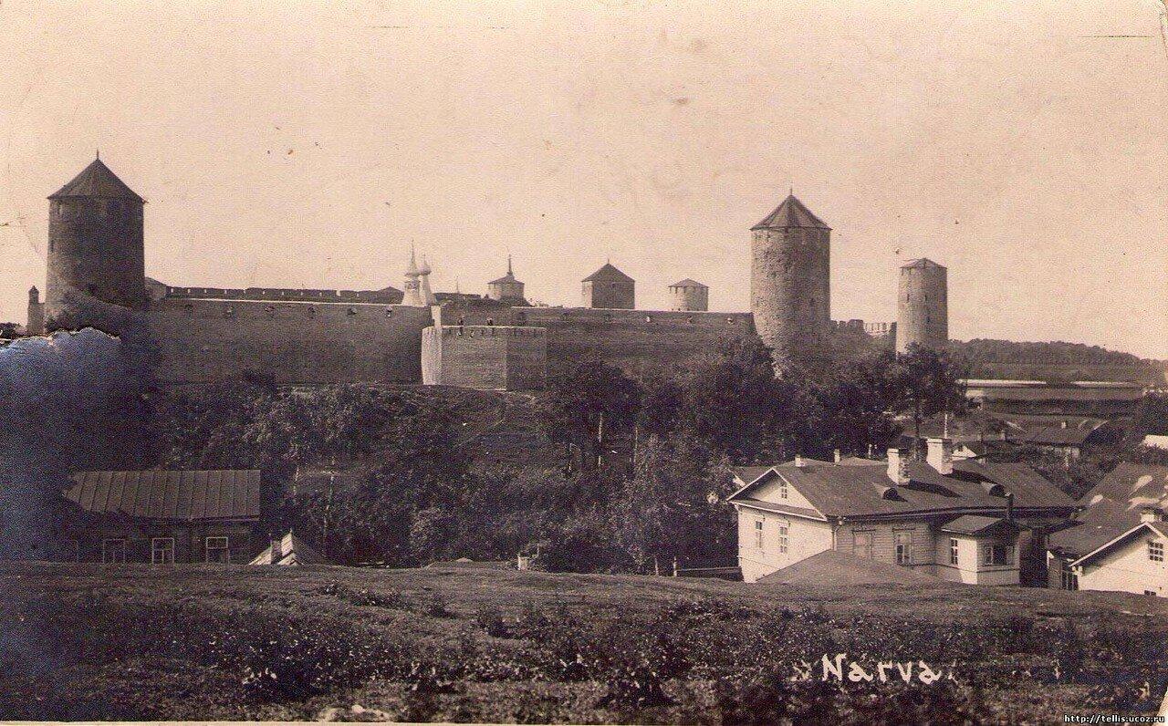 Ивангородская крепость. Вид с юга