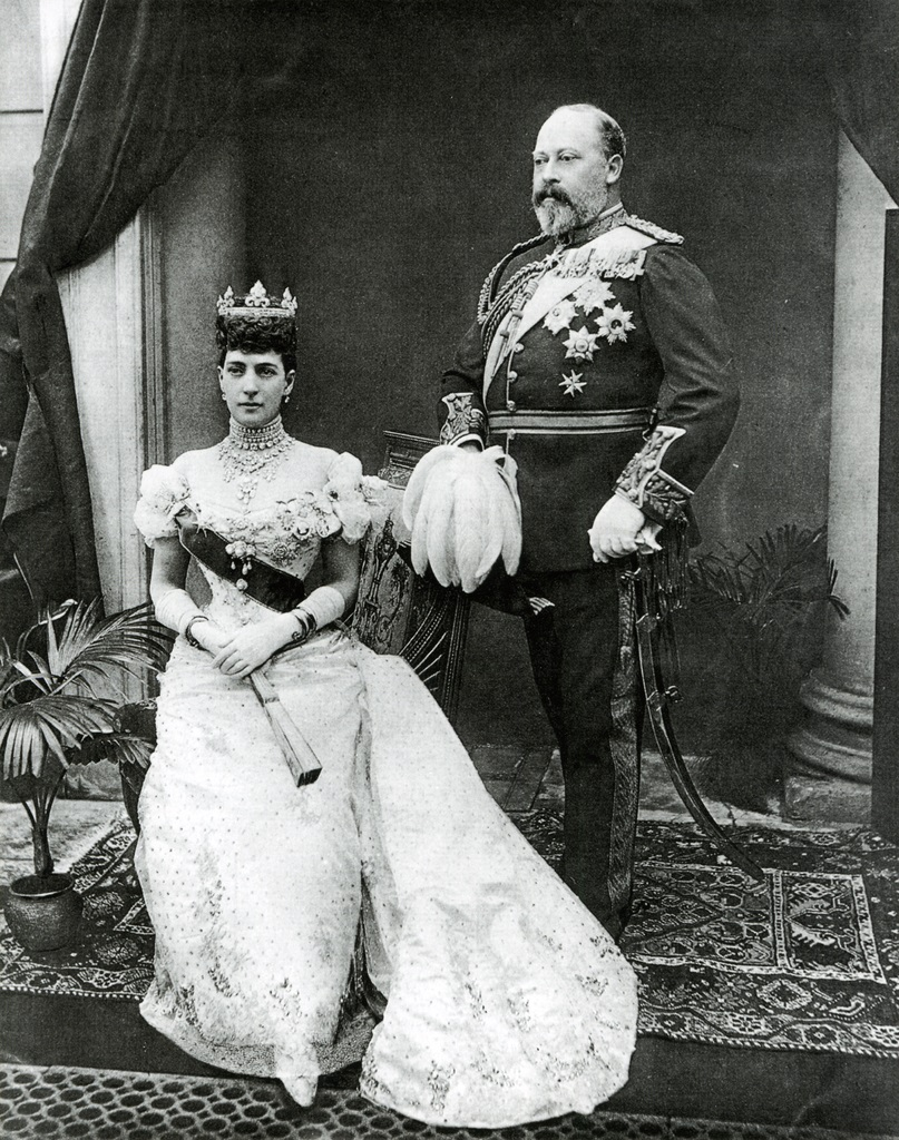 Future Edward VII and Alexandra  photogravure after Gunn &_Stuart 1896.