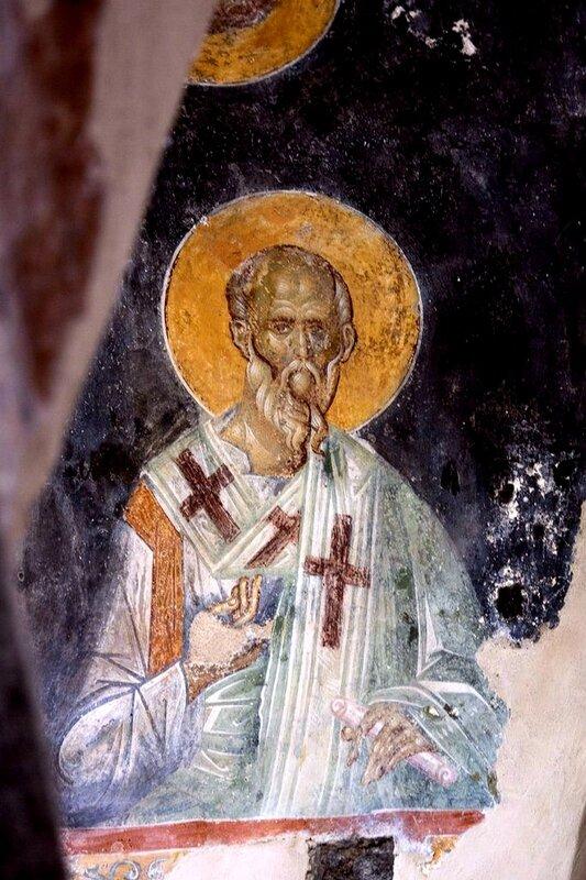 Святой Апостол от Семидесяти. Византийская фреска. Мистра, Греция.