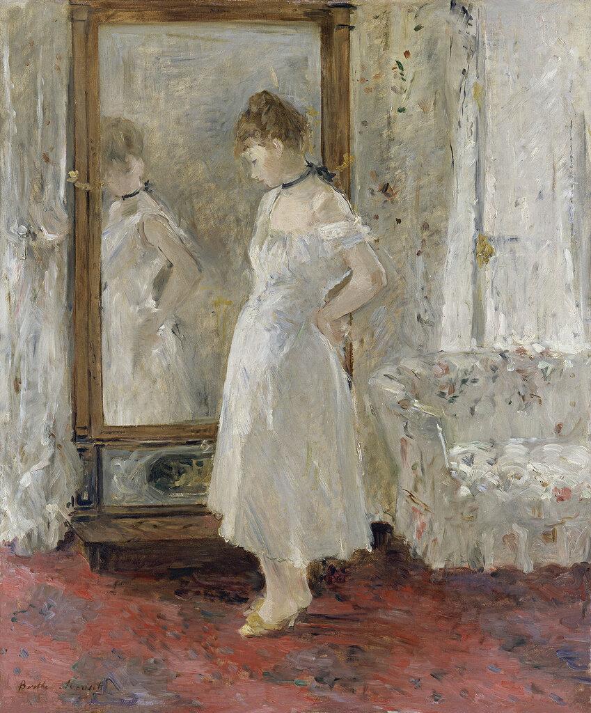 Morisot, Berthe - Психея у зеркала, 1876, 65 cm x 54 cm, Холст, масло.jpg