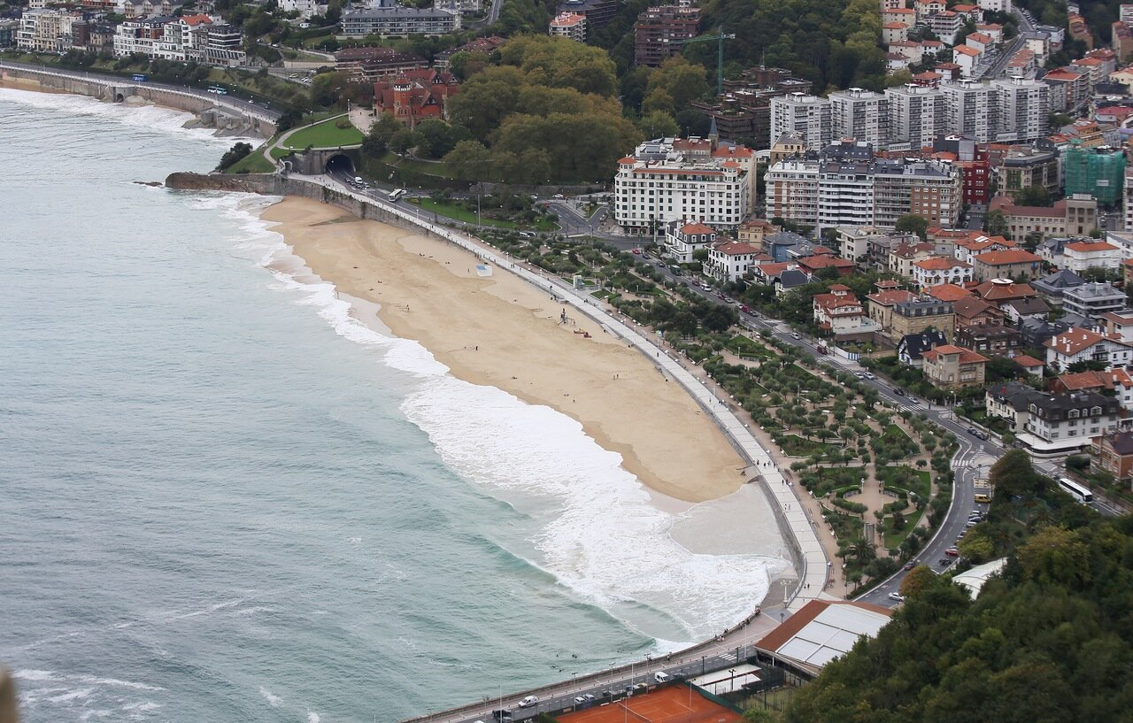 Donostia-San Sebastian. Views from Igueldo tower