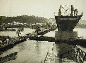 Вид части моста через Днестр, разрушенного австрийскими войсками при отступлении.
