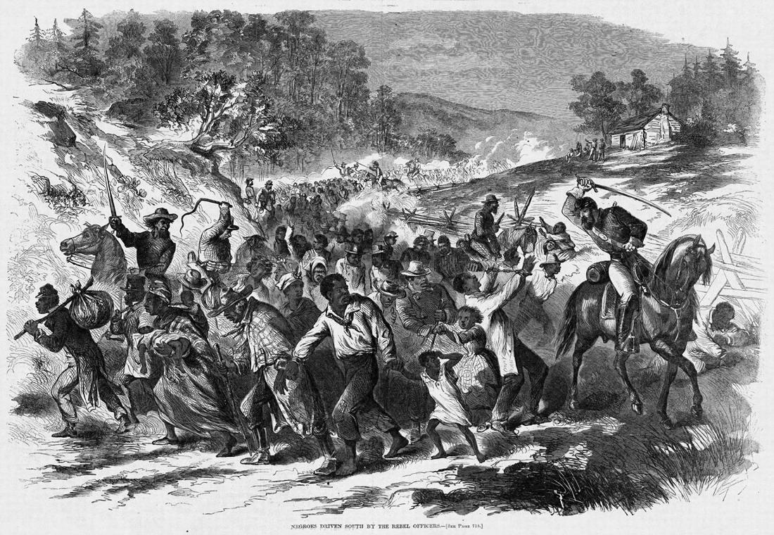 Принудительное перемещение большого количества рабов по территории США из Вирджинии в южные штаты - в целях недопущения возможности их освобождения и понесения их хозяевами финансовых убытков