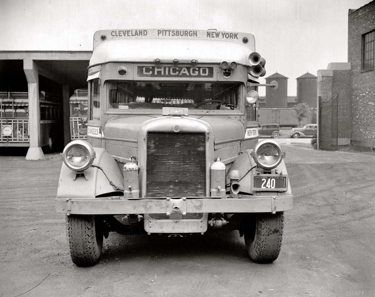 Специализированные транспортные средства начала 20-го века на снимках американских фотографов (64)