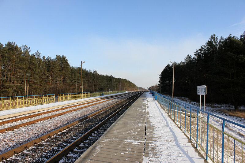Платформа Чижовка, вид на Гомель
