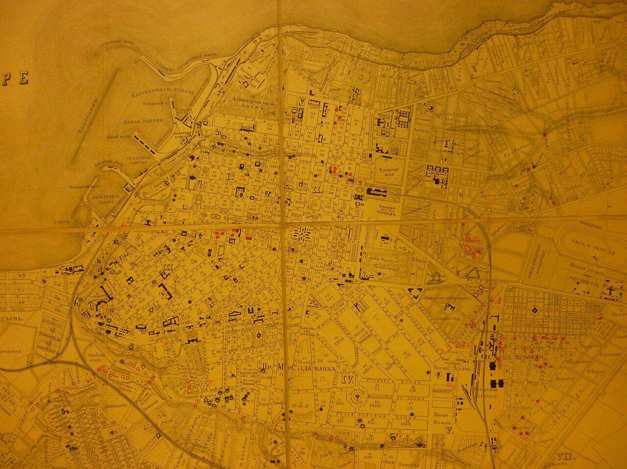 1895. План колодцев в Одессе