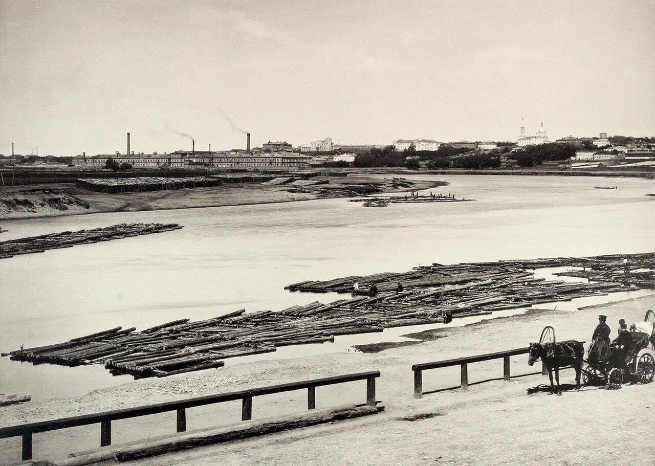 291. Вид Трёх Гор с Левого берега Москвы реки