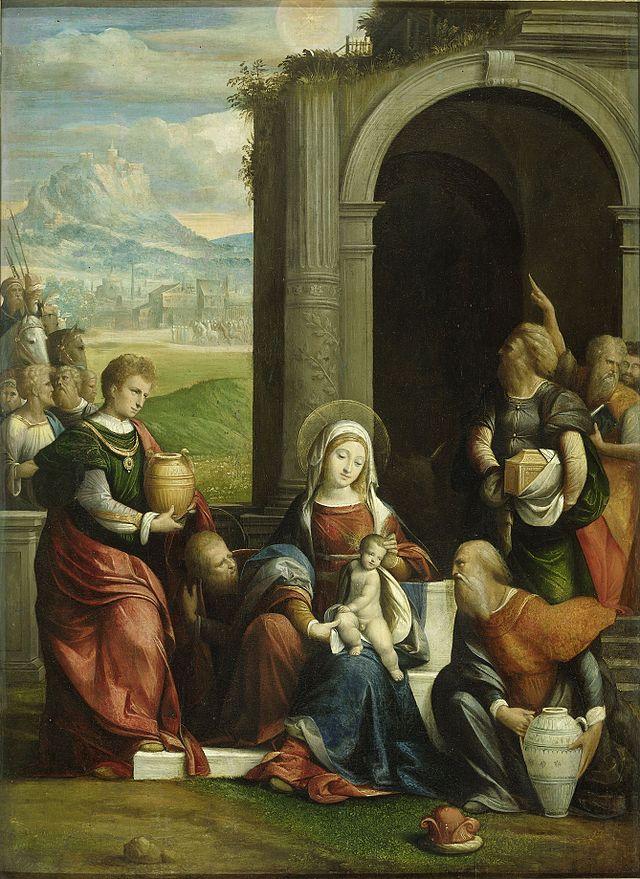 Benvenuto_Tisi_-_De_aanbidding_der_koningen 1530-40.jpg
