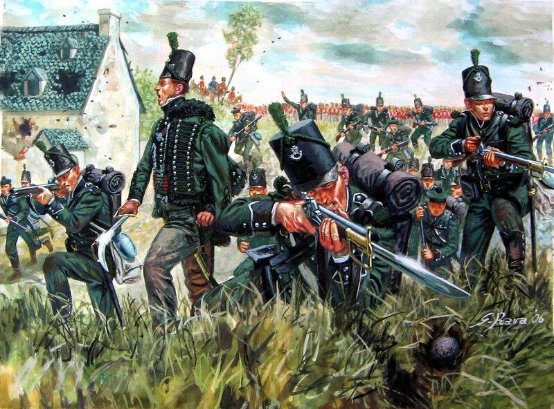 1815 Waterloo 95th Rifles, La Haye Sainte.jpg