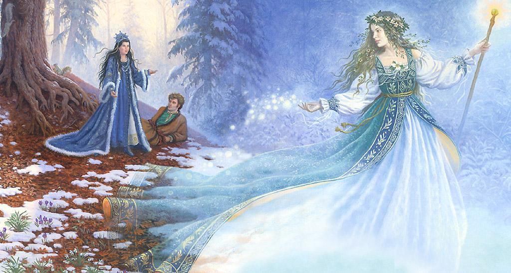 открытка встреча зимы с весной дорогой мой