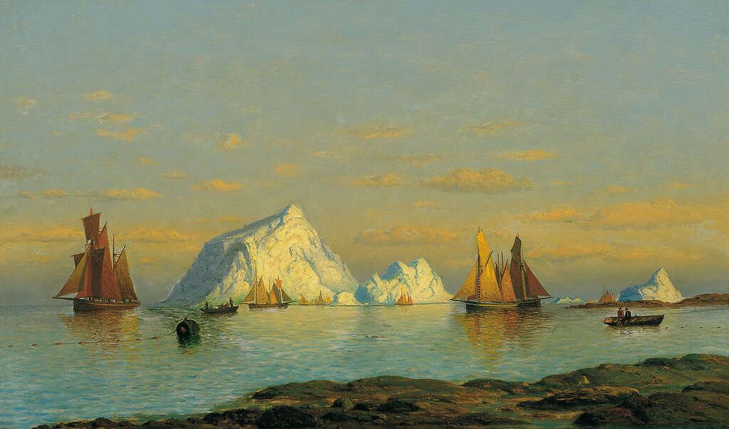 Bradford, William - Рыбаки на побережье Лабрадора, 52 cm x 82,5 cm, Холст, масло.jpg