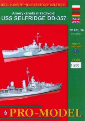 Журнал Журнал Эсминец USS Selfridge DD-357 ( PRO-MODEL )
