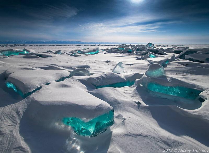 Ледяные скульптуры, созданные природой