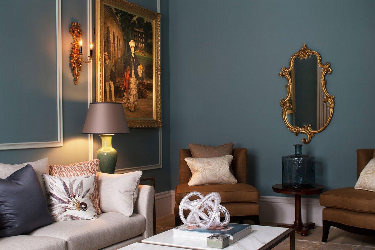 Roselind Wilson Design, квартира The Bromptons, классический интерьер квартиры, интерьер в классическом стиле, роскошная квартира в Лондоне фото