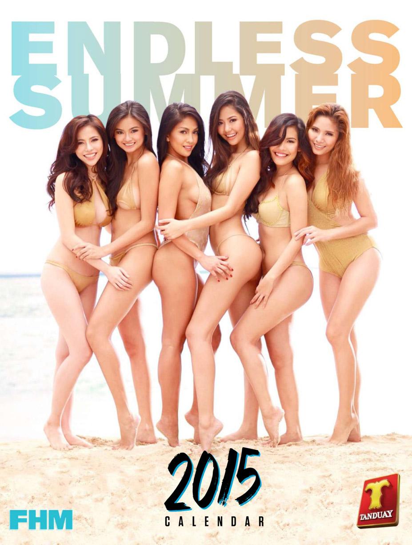 Бесконечное лето с девушками на пляже в календаре FHM Philippines Tanduay calendar 2015