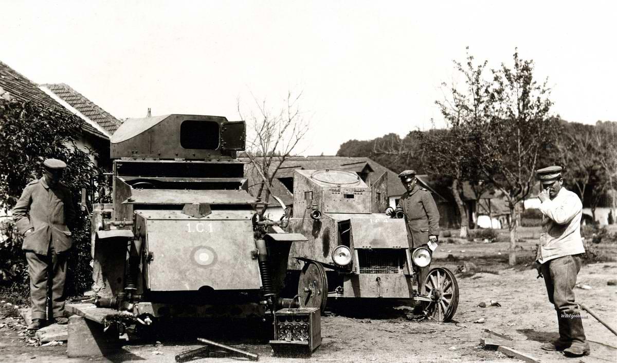 Броневики российской армии Lanchester (Великобритания) и Ford (США)