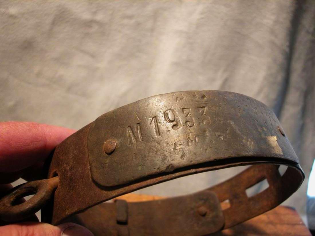 Ошейник североамериканского раба, изготовленный в 1850-х годах (1)