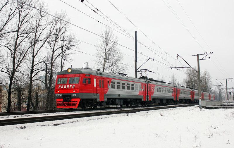 ЭТ2ЭМ-001, Перегон Санкт-Петербург Финляндский - Кушелевка