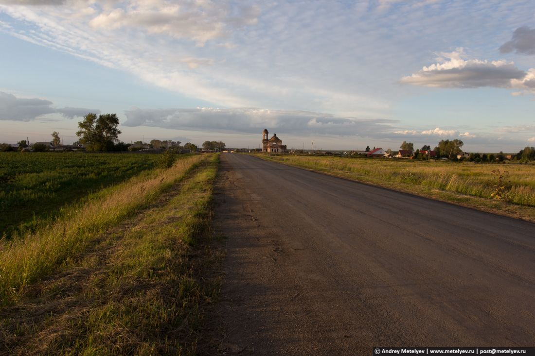 Дорога к храму, лето. Небо