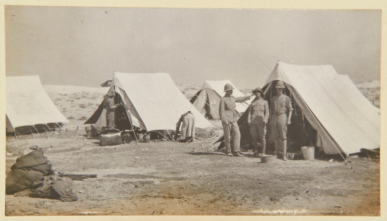 Гренадеры в Сиди Габер возле Александрии. Лейтенанты Фредерик Херви-Батерст и Хуберт Крайтон