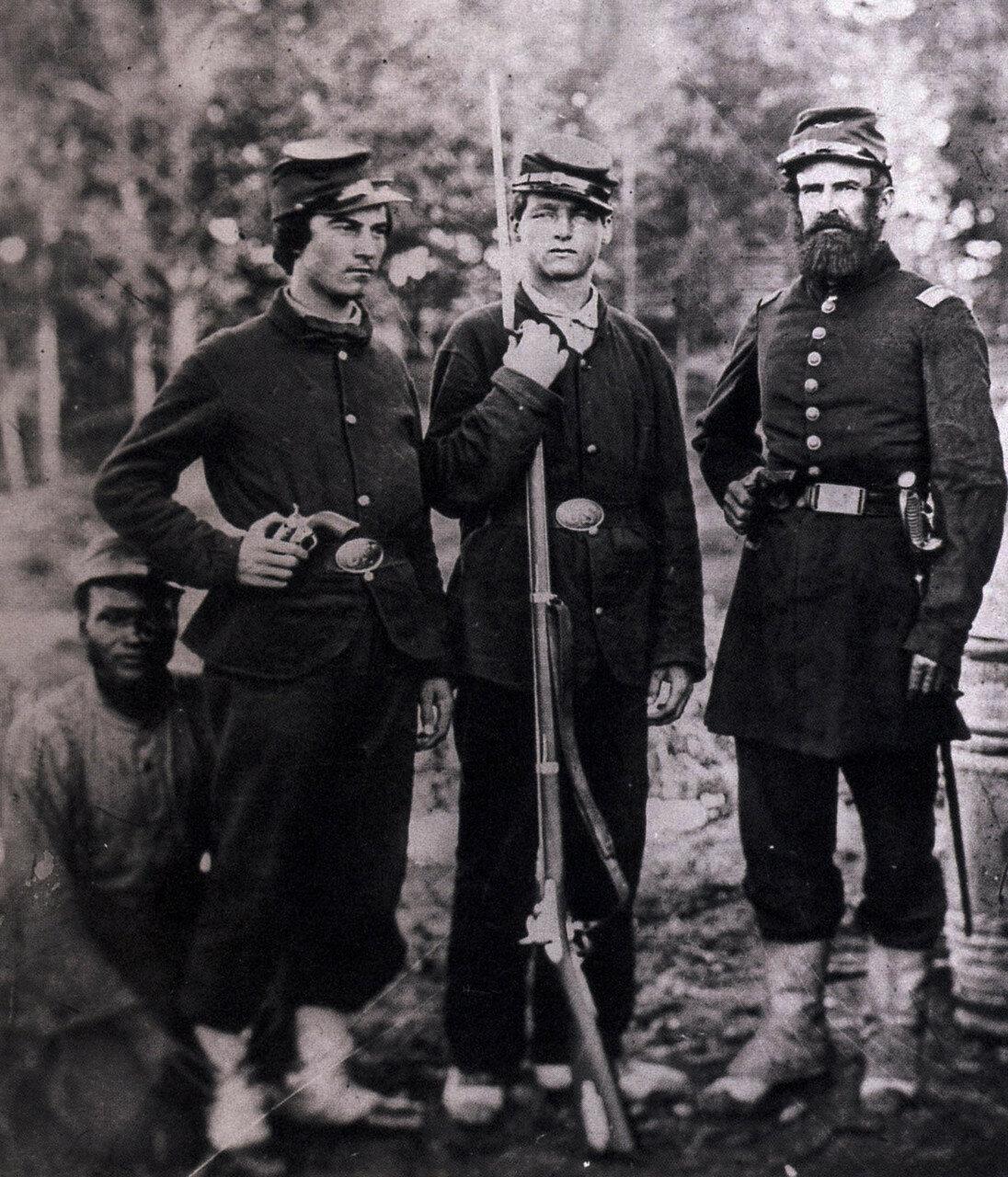 1862-1865. Негр и трое солдат