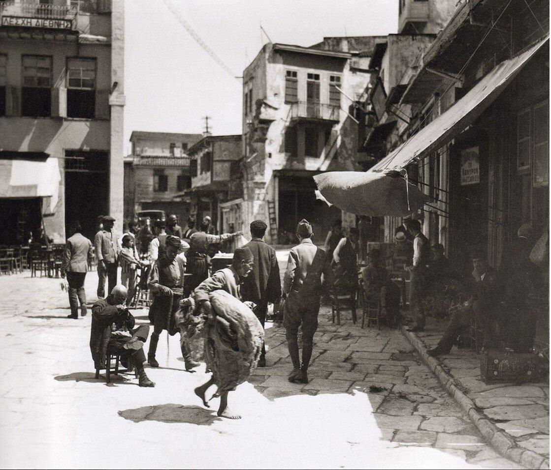 1920. Крит, Ханья. Площадь Черногории