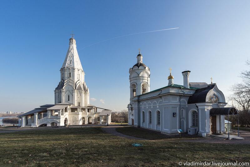 Храмы Вознесения и Георгия Победоносца в Коломенском