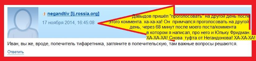 Негандонов, Попечители, Давыдов, Подделка