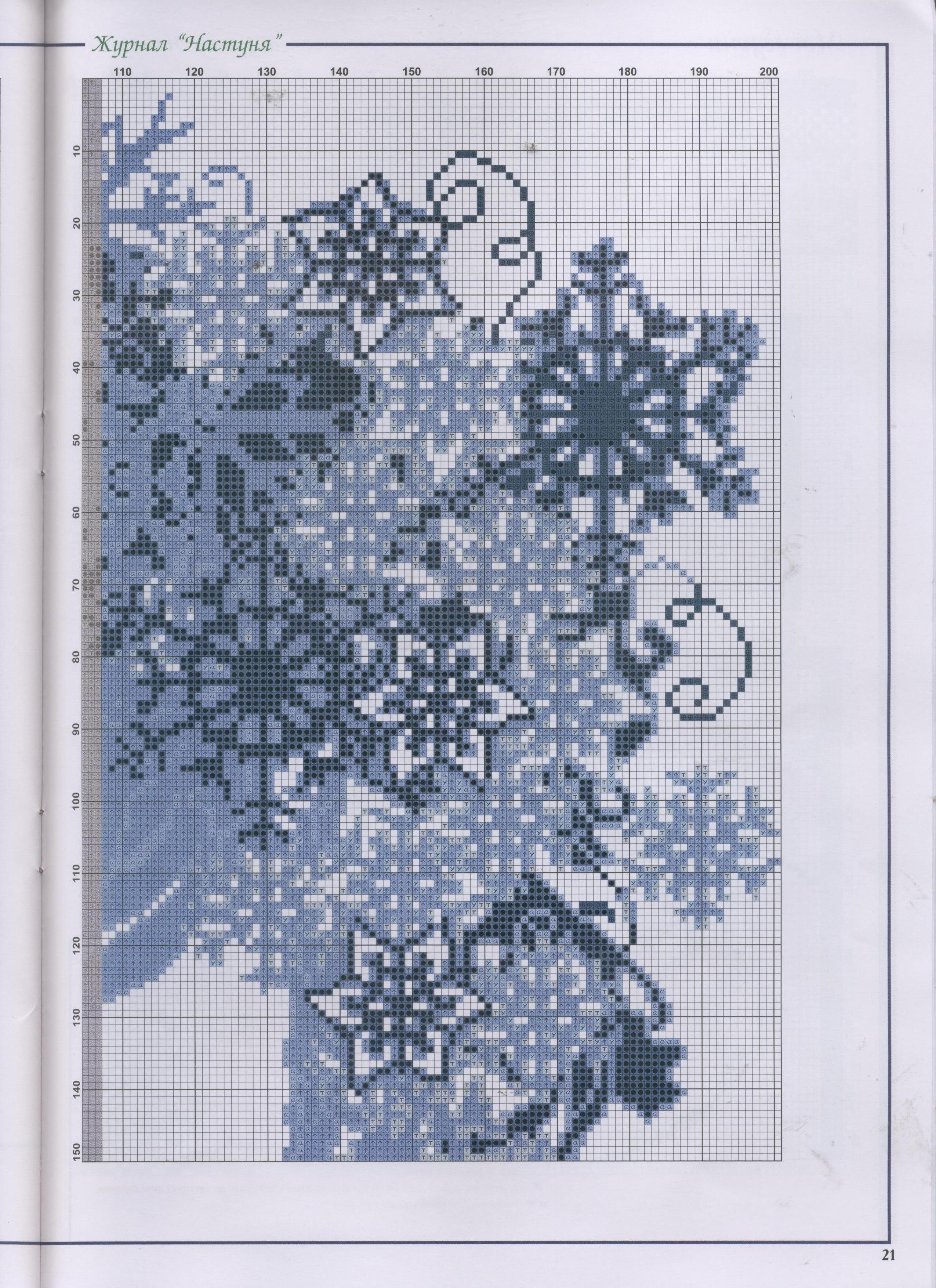 схема вышивки крестом леди зима