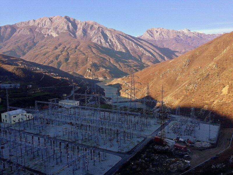 Команская ГЭС в Албании