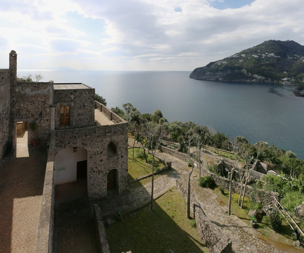 Ischia. The Aragonese castle. House of the Sun (Casa del Sole)